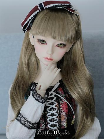 BJD Wig Girl Light Brown Hair for SD Size Ball-jointed Doll
