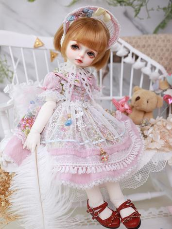 BJD Clothes Girl Blue/Pink ...