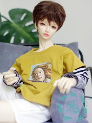 BJD Clothes Boy Yellow/Whit...
