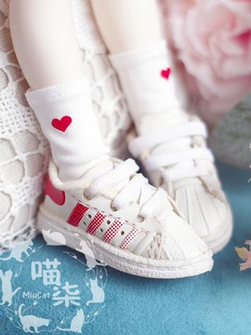 Bjd Socks Girl/Boy White So...