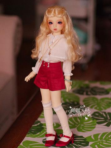 BJD Clothes Girl Red/Blue D...