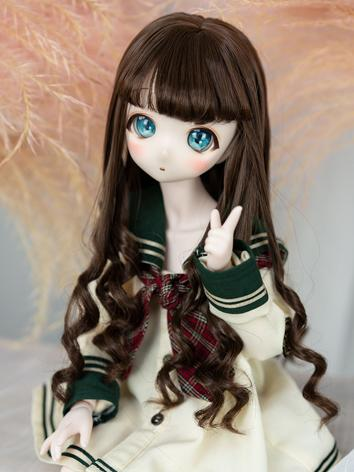 BJD Wig Girl Chocolate/Pink...