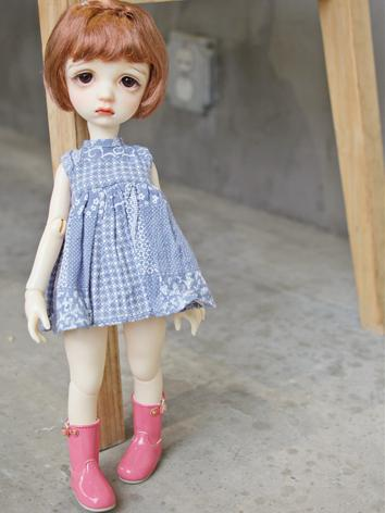 BJD Clothes 1/6 1/4 Girl Yellow/Blue Dress for MSD/YSD Ball-jointed Doll