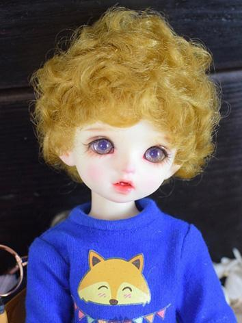 BJD Wig Boy Yellow/Black Short Curly Hair for SD/MSD/YOSD Size Ball-jointed Doll