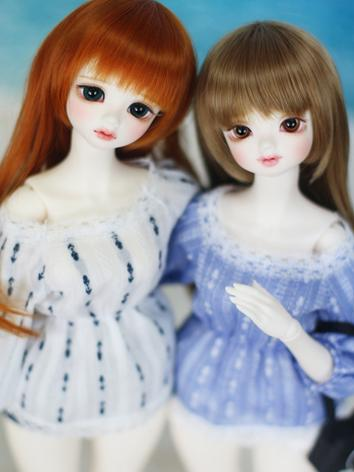 BJD 1/4 Girl Summer Blouse for MSD/MDD Ball-jointed Doll