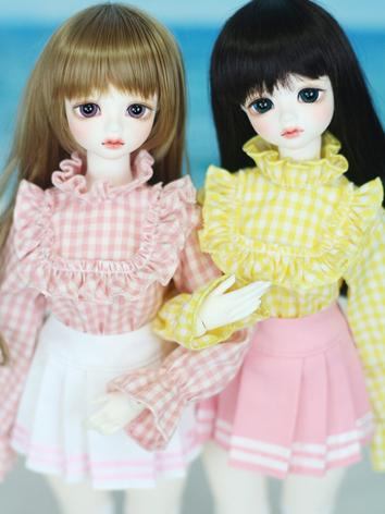 BJD 1/4 Girl Frilly Blouse ...