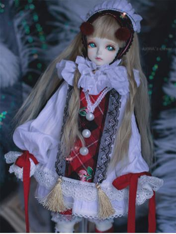 BJD Clothes Girl/Boy Red Se...