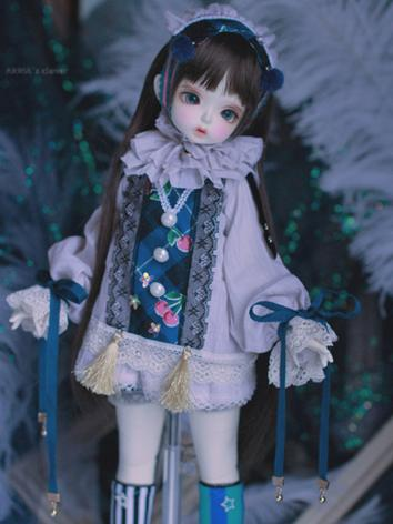 BJD Clothes Girl/Boy Blue Set for MSD Ball-jointed Doll