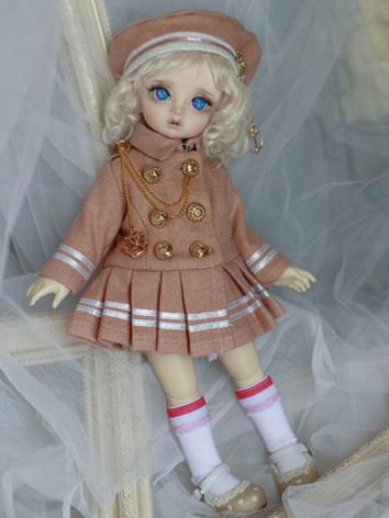 BJD Outfit Girl Set Pink School Set for YOSD Size Ball-jointed Doll