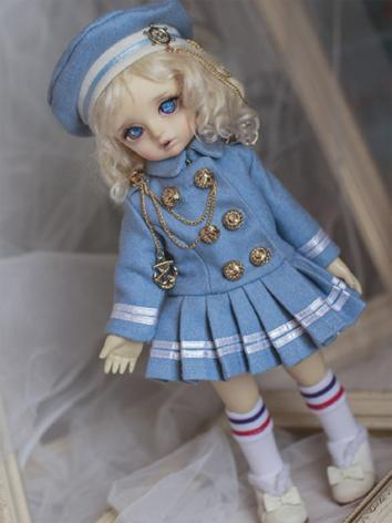 BJD Outfit Girl Set Blue School Set for YOSD Size Ball-jointed Doll