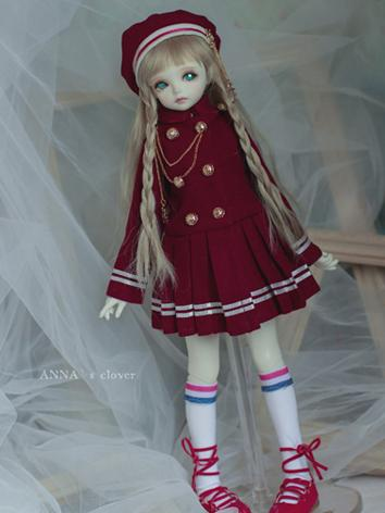BJD Clothes Girl Set Red Sc...