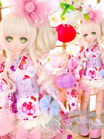 BJD Clothes MSD/MDD Girl Dress Kimono Set Suit Ball-jointed Doll