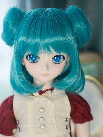 BJD Wig Girl Pink/Blue Hair for SD Size Ball-jointed Doll