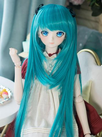 BJD Wig Girl Light Gray/Blu...