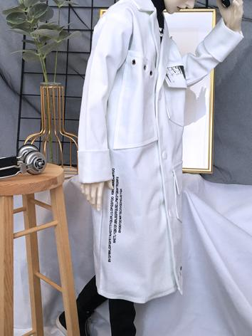 BJD Clothes Boy White Long ...