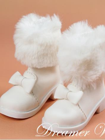 BJD 1/3 1/4 Shoes Girl Whit...