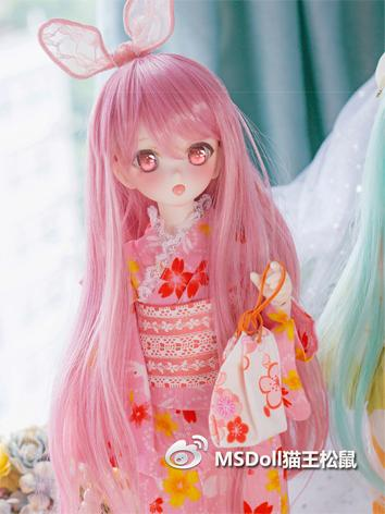 BJD Wig Girl Gray/Pink/Mint...