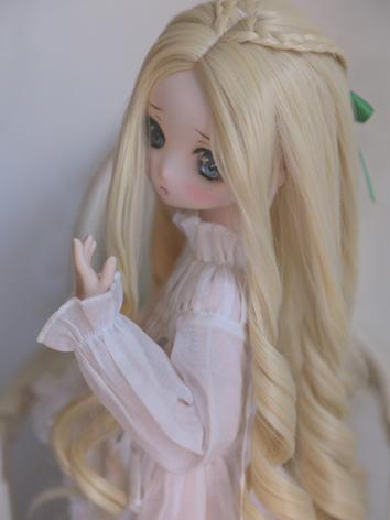 BJD Wig Girl Light Gold Lon...