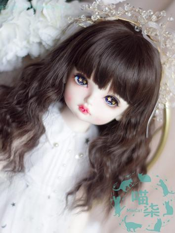 BJD Wig Girl Chocolate Hair for SD/MSD/YSD Size Ball-jointed Doll