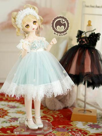 1/4 MSD Clothes Girl Retro Sweet Dress for MSD/MDD Size Ball-jointed Doll