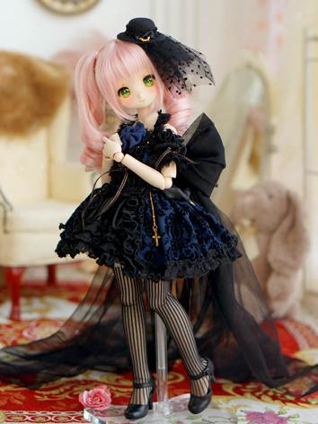 1/4 MSD Clothes Girl Gothic Dress for MSD/MDD Size Ball-jointed Doll