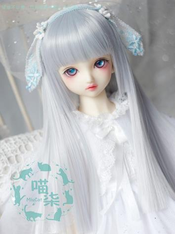BJD Wig Girl Gray Straight ...
