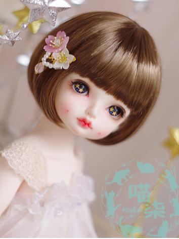 BJD Wig Girl Brown/Gold BOBO Hair for SD/MSD/YSD Size Ball-jointed Doll
