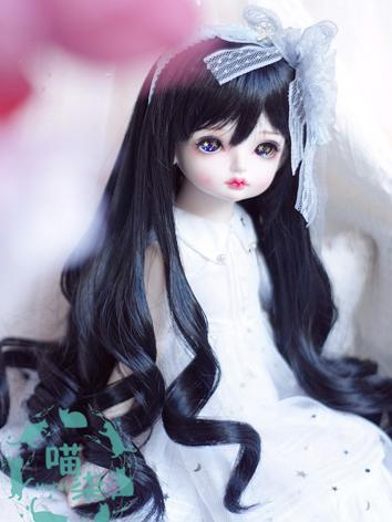 BJD Wig Girl Black Curly Ha...