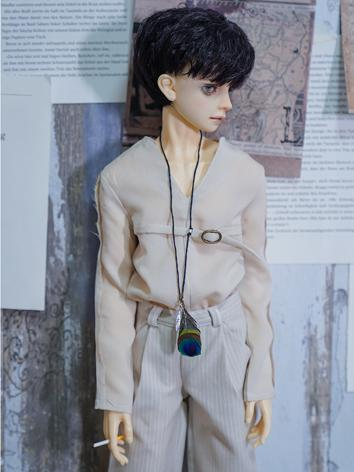 BJD Clothes Boy Beige Set S...