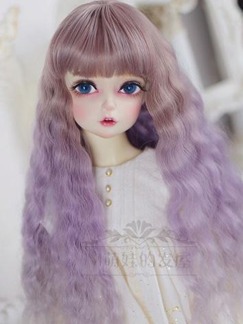 BJD Wig Girl Purple Curly H...