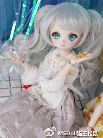 BJD Wig Girl Light Gray/Yel...