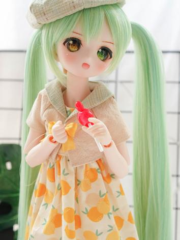 BJD Wig Girl Mint Long Hair...