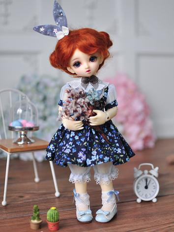 BJD Clothes Girl Dress Set Flora Printed Suit for YOSD Size Ball-jointed Doll