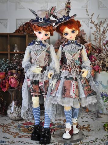BJD Clothes Outfit Boy/Girl Europe Retro Suit Set for MSD/DSD Size Ball-jointed Doll