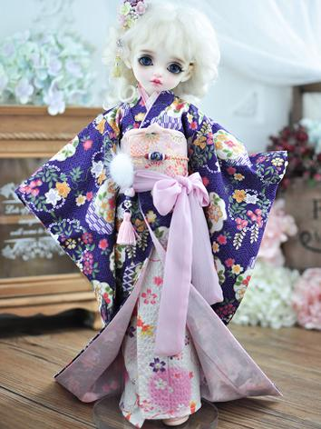 BJD Clothes Female Kimono Suit for MSD/MDD/DSD Size Ball-jointed Doll