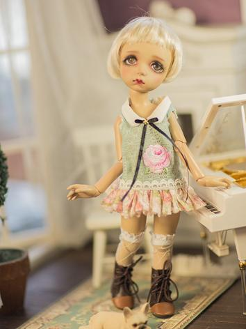 BJD Clothes Girl Dress+Socks Suit Set for SD/MSD Ball-jointed Doll