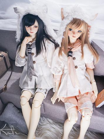 BJD Clothes Girl/Boy Shirt+Pants Suit Set Outfit for MSD/SD13/SD17 Ball-jointed Doll