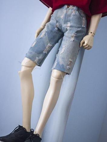BJD Outfit 1/3 1/4 70cm Boy/Girl Jeans Fifth Pants Trousers A280 for MSD/SD/70cm Size Ball-jointed Doll