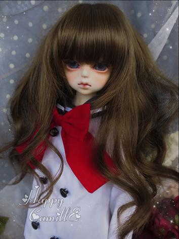 BJD Girl Brown Color Wig Cu...