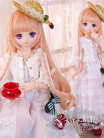 BJD Clothes MSD/MDD Girl White Dress Set Suit Ball-jointed Doll