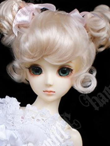 BJD Wig Female Light Gold L...