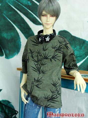 BJD Clothes Boy/Girl White Printed T-shirt Top for 70cm/SD/MSD Ball-jointed Doll