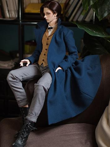 BJD Clothes Boy Gray/Blue W...