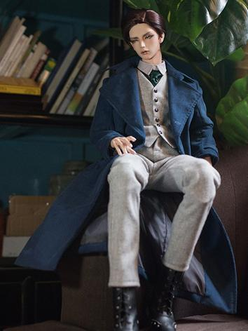BJD Clothes Boy Blue Windcoat Suit for SD17/70CM/75CM/80CM Ball-jointed Doll