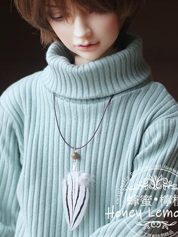 BJD 70cm 1/3 Feather Neckla...