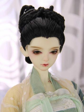 BJD Wig Girl Black Ancient Styled Wig Hair for SD/MSD Size Ball-jointed Doll