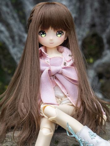BJD Wig Girl Light Pink/Lig...
