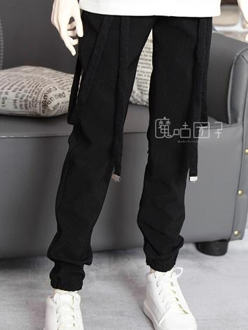 BJD Clothes Boy Black Trousers for 70cm/SD/MSD Ball-jointed Doll