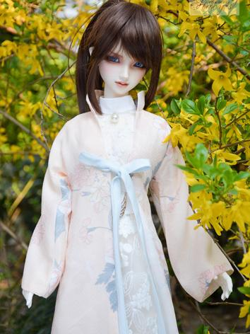 BJD Clothes Girl White&Pink...