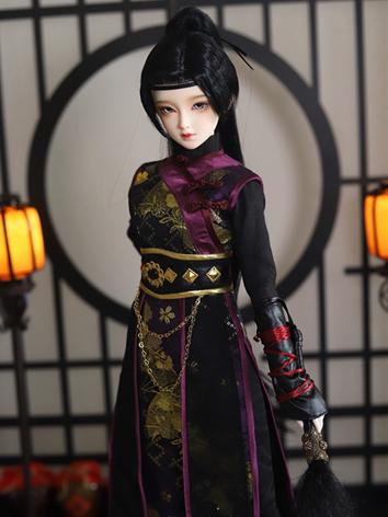 BJD Clothes Girl Ancient Black Set for MSD/SD/DD/65CM Ball-jointed Doll